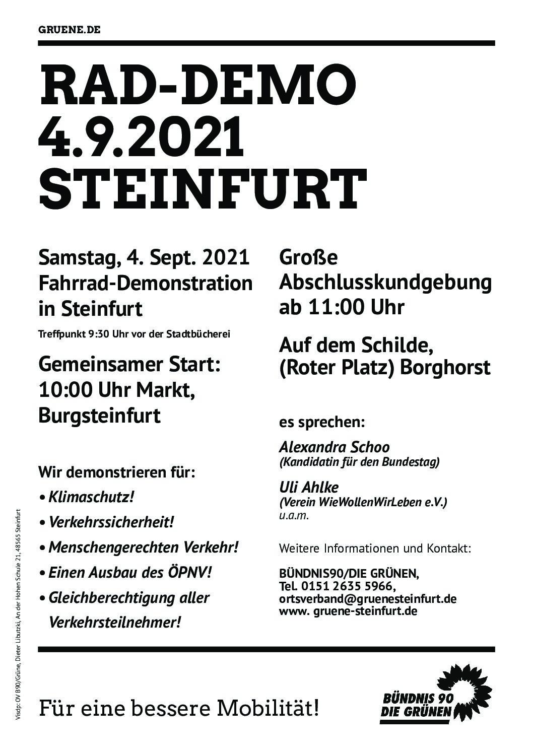 Save the date – 04.09.2021 Rad-Demo