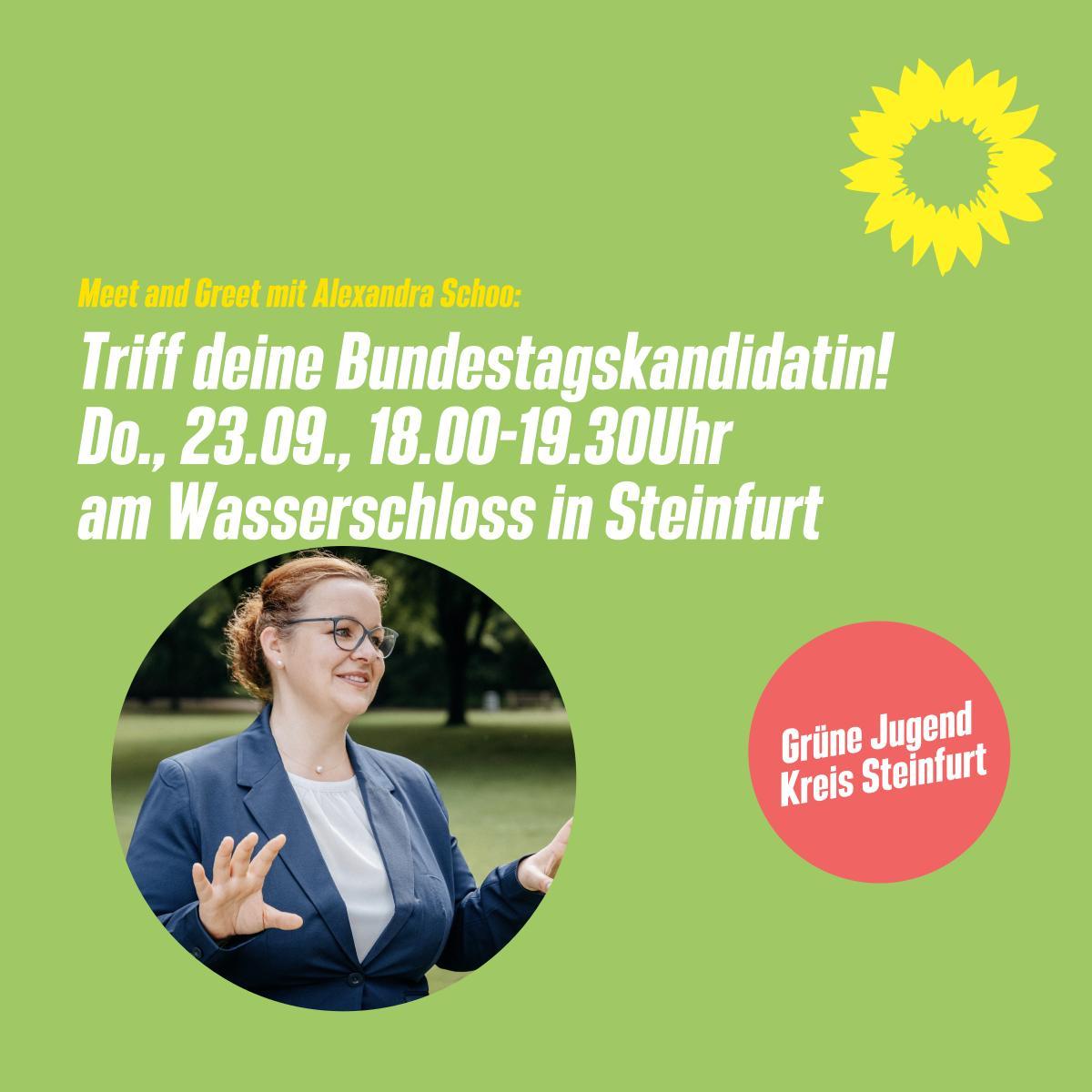 Triff deine Bundestagskandidatin – Meet & Greet mit Alex
