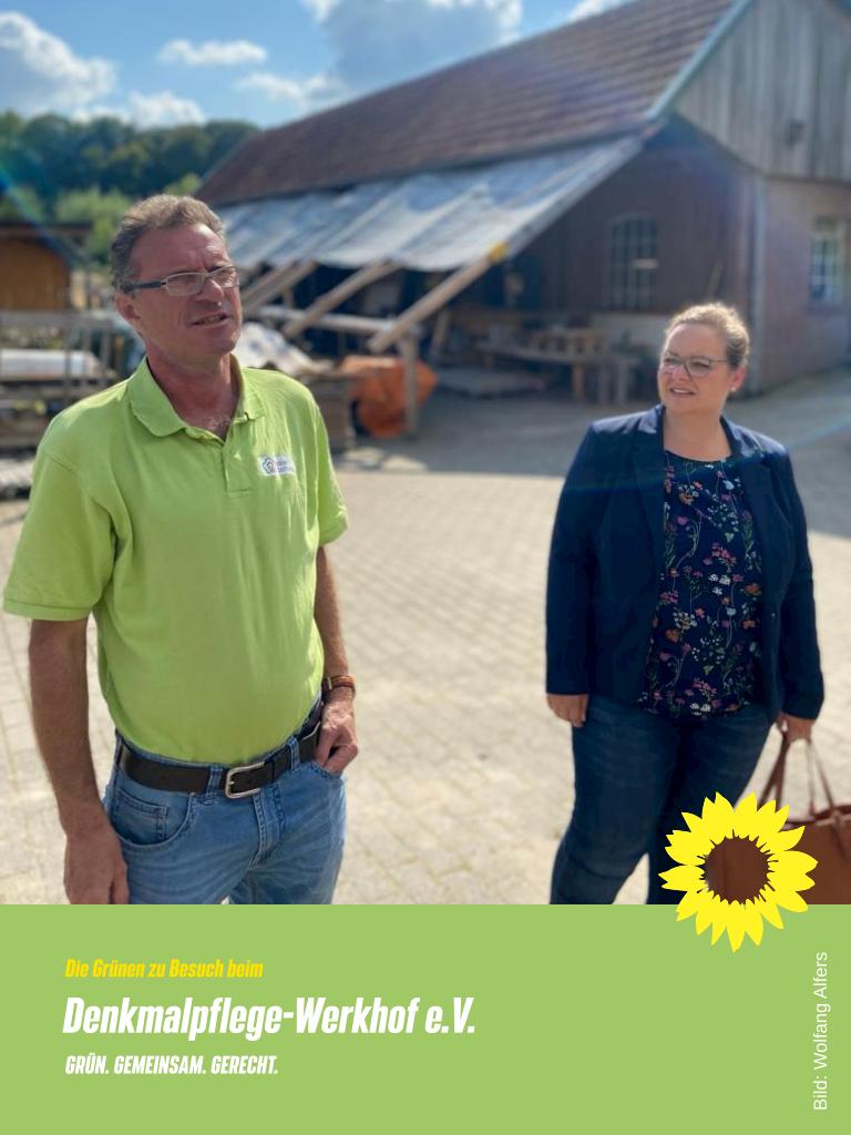 Grüne besuchen Hollicher Denkmalpflege-Werkhof e.V.