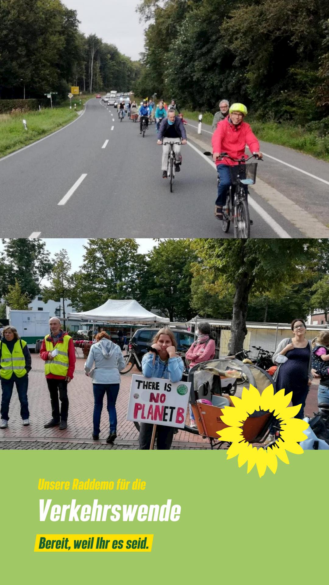 Unsere Raddemo für die Verkehrswende!