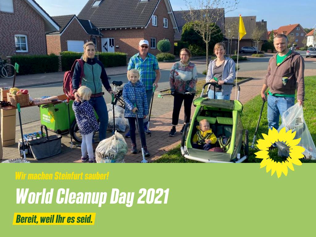 Wir machen Steinfurt sauber – World Cleanup Day 2021