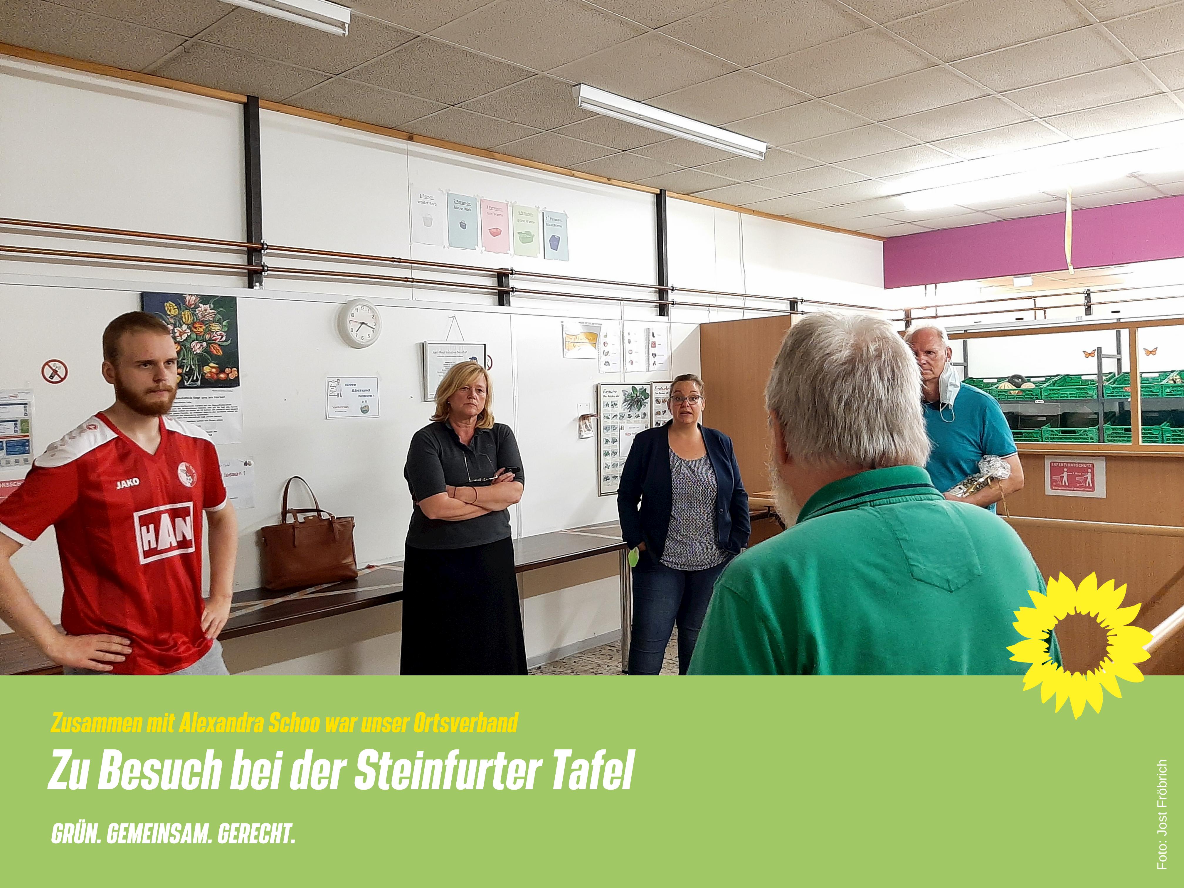 Unsere Grüne Bundestagskandidatin Alexandra Schoo hat mit uns die Tafel besucht